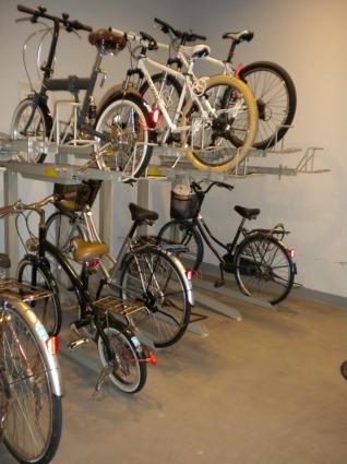 カッシアの自転車置場です。
