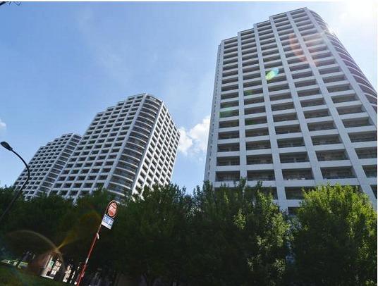 西戸山タワーホウムズサウスタワーの外観写真です。